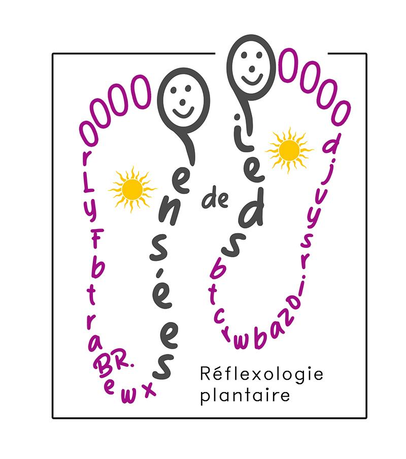 Pensées des pieds réflexologie